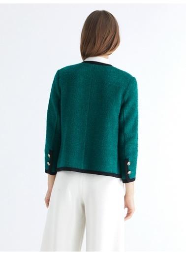 Triko Mısırlı Ceket Yeşil